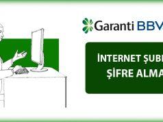 Garanti Bankası İnternet Bankacılığı Şifresi Alma
