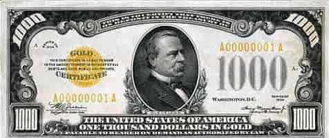 1000 dolar banknot ne zaman basıldı